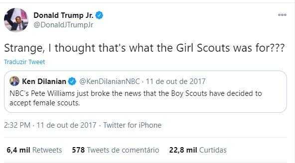 Tuíte de Donald Trump Jr.