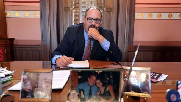 PHOTO: Michigan State Senator, Jim Ananich, Minority Leader, in his office in the the Michigan state capital, Aug. 27, 2019, in Lansing, Mich. (Fabrizio Costantini for ABC News)