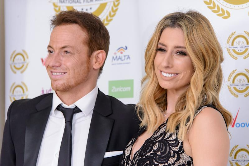 LONDON, ENGLAND - MARCH 29: Joe Swash and Stacey Solomon attend the National Film Awards at Porchester Hall on March 29, 2017 in London, United Kingdom. (Photo by Joe Maher/FilmMagic)
