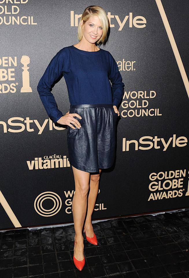 LOS ANGELES, CA - NOVEMBER 29:  Actress Jenna Elfman arrives at The Hollywood Foreign Press Association And InStyle Miss Golden Globe 2013 Party at Cecconi's Restaurant on November 29, 2012 in Los Angeles, California.  (Photo by Jon Kopaloff/FilmMagic)