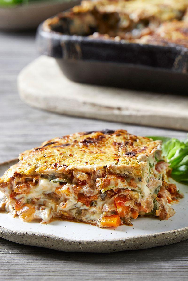 """<p>This lentil lasagne recipe is packed with protein, carbohydrates, fibre, folate and magnesium, helping to fill you up. Full with yummy ingredients including porcini mushrooms, baby spinach and lots of lentils, this might just become a fierce favourite of yours. </p><p>Get the <a href=""""https://www.delish.com/uk/cooking/recipes/a30512632/lentil-lasagne/"""" rel=""""nofollow noopener"""" target=""""_blank"""" data-ylk=""""slk:Lentil Lasagne"""" class=""""link rapid-noclick-resp"""">Lentil Lasagne</a> recipe.</p>"""