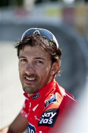 FILE -In this Aug. 23, 2009 file picture Fabian Cancellara, Swiss bicycle racer, is photographed at the openair cycling track Zuerich-Oerlikon in Zur