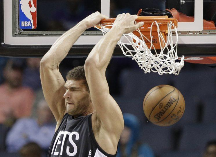 Brook Lopez is an attractive trade asset. (AP)