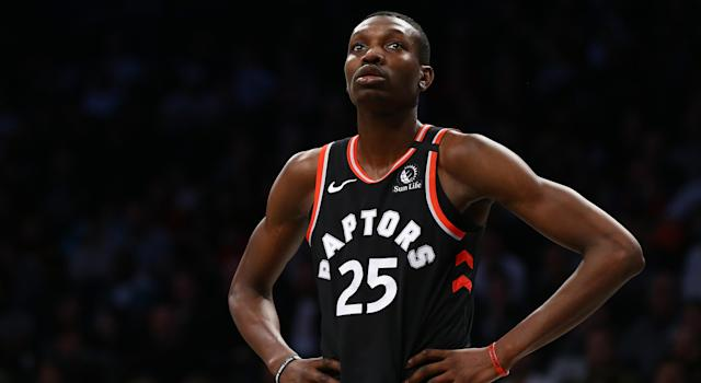 Chris Boucher was reportedly spotted at a downtown Loblaws only one day after being ordered into self-isolation due to the coronavirus. (Mike Stobe/Getty Images)