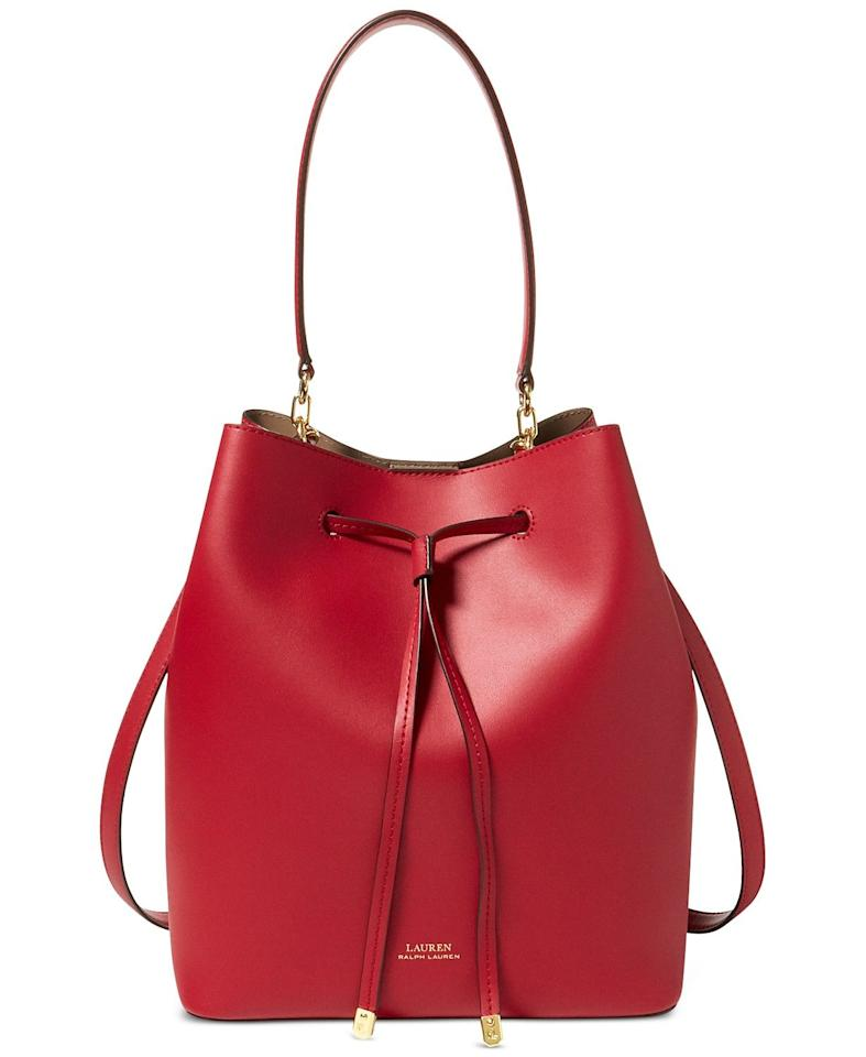 """<p><strong>Lauren Ralph Lauren</strong></p><p>macys.com</p><p><strong>$198.00</strong></p><p><a href=""""https://go.redirectingat.com?id=74968X1596630&url=https%3A%2F%2Fwww.macys.com%2Fshop%2Fproduct%2Flauren-ralph-lauren-dryden-debby-leather-drawstring%3FID%3D4342854&sref=https%3A%2F%2Fwww.cosmopolitan.com%2Fstyle-beauty%2Ffashion%2Fg31898849%2Fgift-ideas-for-grandma%2F"""" target=""""_blank"""">Shop Now</a></p><p>If your grandma is a style star, how about a handbag in a bold color for her to add to her collection?</p>"""