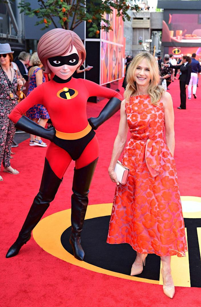 """<p>""""It was a massive shock at how incredible [laughs] the movie was,"""" Hunter (in 2018) says of voicing Elastigirl in <em>The Incredibles</em> movies. """"I was simply not prepared.""""</p>"""