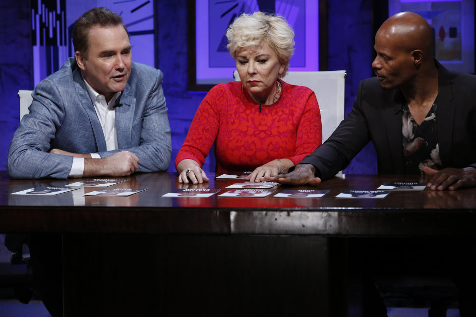(l-r) Norm MacDonald, Roseanne Barr, Keenen Ivory Wayans on Last Comic Standing. (Photo by: Ben Cohen/NBCU Photo Bank/NBCUniversal via Getty Images)