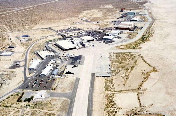 Aerial view of NASA's Dryden Flight Research Facility, which the U.S. House of Representatives has voted to rename after the late moonwalker Neil Armstrong.