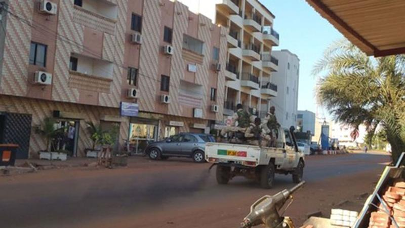 Security forces drive near the Radisson hotel in Bamako, Mali. Photo: Reuters/Adama Diarra