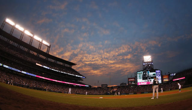 The Rockies may have to install a fan as their organist if a tweet takes off. (AP Photo/David Zalubowski)