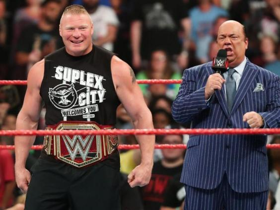 Brock Lesnar is the Universal Champion in Raw (WWE)