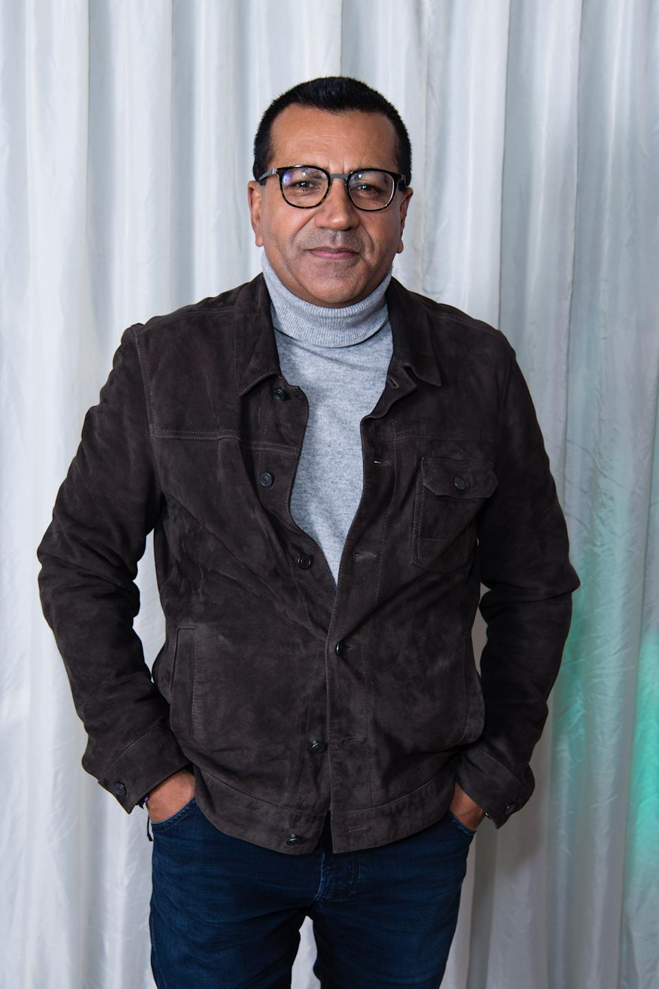 """LONDON, ENGLAND - NOVEMBER 23: Martin Bashir backstage during """"X Factor Celebrity"""" at LH2 Studios on November 23, 2019 in London, England. (Photo by Jeff Spicer/Getty Images)"""