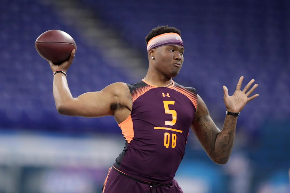 Ohio State quarterback Dwayne Haskins could find an interesting landing spot in the draft. (AP Photo)
