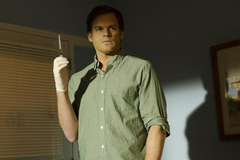 """This undated publicity image released by Showtime shows Michael C. Hall as Dexter Morgan in a scene from """"Dexter."""" The final episode airs Sunday, Sept. 22, at 9 p.m. EST on Showtime. (AP Photo/Showtime, Randy Tepper)"""