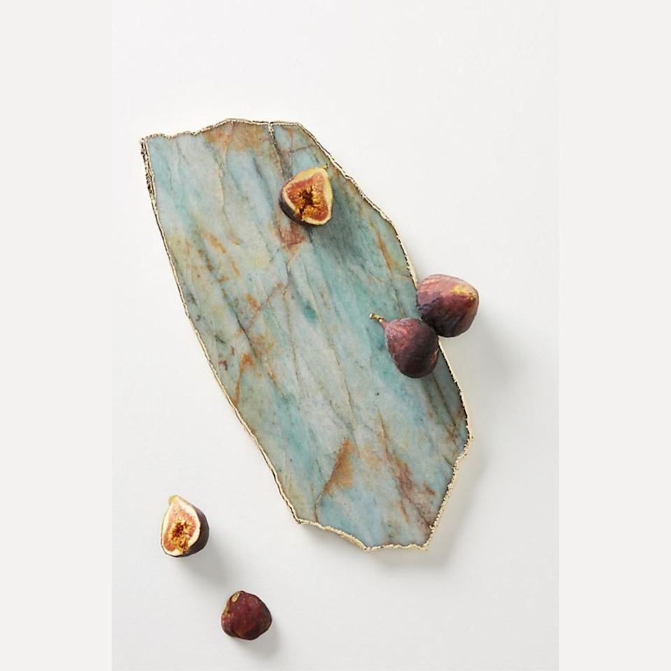 """$78, Anthropologie. <a href=""""https://www.anthropologie.com/shop/agate-cheese-board"""">Get it now!</a>"""