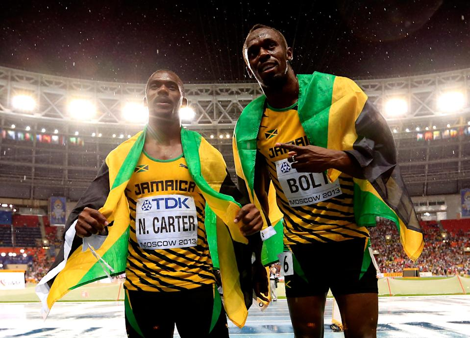 Nesta Carter's positive doping test means that Usain Bolt won't get his ninth gold medal back. (Getty Images)