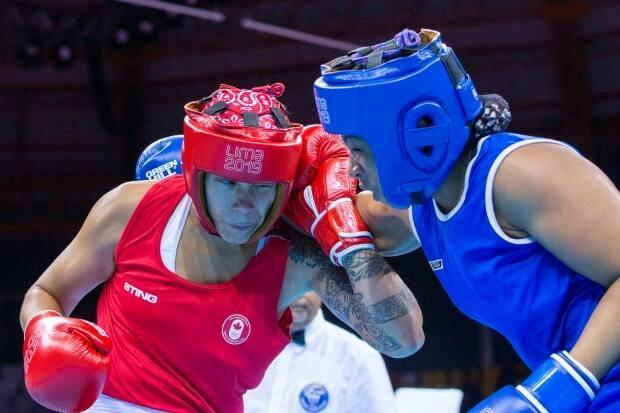 Canada's Tammara Thibeault, left, joins the POV podcast to discuss her thoughts going into her Tokyo 2020 debut bout. (Carlos Osorio for CBC Sports - image credit)