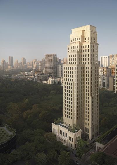 The 25-storey 98 Wireless has Beaux-Arts architecture