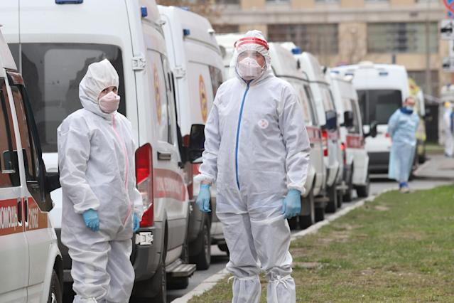 Russia's infections jumped by more than 11,000 cases in just 24 hours. (AP)