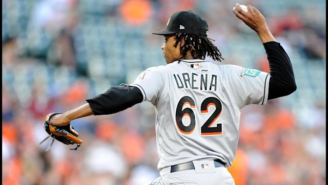 Miami Marlins pitcher Jose Ureña is a guy with untapped potential. (AP)