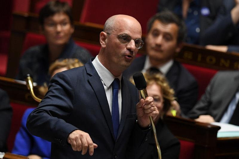 """Education Minister Jean-Michel Blanquer had decried """"repeated attacks on the French language."""" (AFP Photo/CHRISTOPHE ARCHAMBAULT )"""