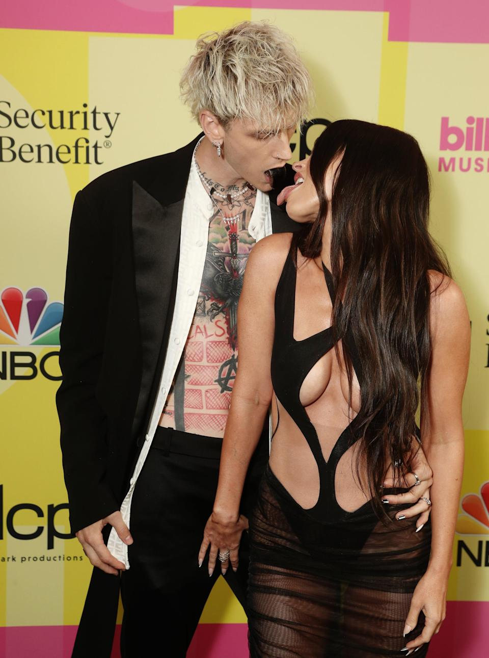 Can't keep my hands to myself: Megan Fox and Machine Gun Kelly (NBCU Photo Bank via Getty Images)