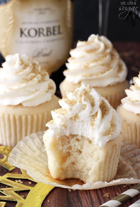 """<p>You can't have a party without Champagne.</p><p>Get the recipe from <a href=""""http://www.lifeloveandsugar.com/2014/12/29/champagne-cupcakes/"""" rel=""""nofollow noopener"""" target=""""_blank"""" data-ylk=""""slk:Life, Love, and Sugar"""" class=""""link rapid-noclick-resp"""">Life, Love, and Sugar</a>.</p>"""