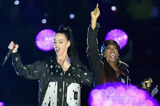 2015: Katy Perry with Missy Elliott. (Photo by Jeff Kravitz/FilmMagic)