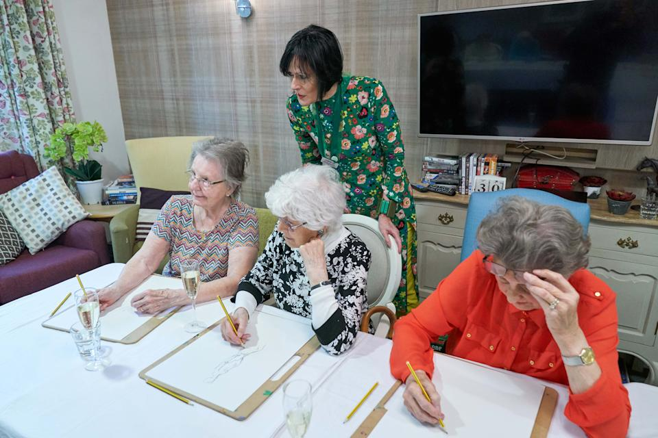 Residents chose to take part in a life drawing class as part of their regular activity programme. [Photo: Simon Jacobs]