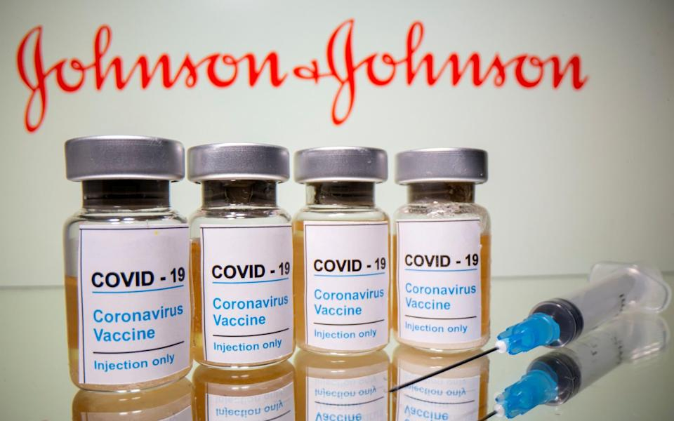 The promise of 30 million one-jab Johnson & Johnson doses suffered a setback after it was suspended in the US - REUTERS