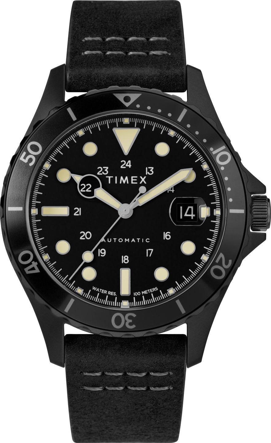 """<p>Navi XL Automatic 41mm</p><p><a class=""""link rapid-noclick-resp"""" href=""""https://www.timex.co.uk/navi-xl-automatic-41mm-leather-strap-watch/Navi-XL-Automatic-41mm-Leather-Strap-Watch.html?dwvar_Navi-XL-Automatic-41mm-Leather-Strap-Watch_color=Stainless-Steel-Black-Black#q=navi%2Bxl&lang=en_GB&start=1"""" rel=""""nofollow noopener"""" target=""""_blank"""" data-ylk=""""slk:SHOP"""">SHOP</a></p><p>When it was launched last year in a limited run, Timex's first military-inspired automatic watch sold out quicker than you could say, """"An automatic watch for how much?"""" Those who missed out now have a second chance to grab a watch that channels Timex's military heritage but adds clever guts (a 21-jewel Japanese automatic movement) and will still leave you change from £230. With only 100m water resistance it's more a desk diving watch than a diver diving watch. But at that price, we're not ones to quibble.</p><p>£229.99, <a href=""""https://www.timex.co.uk/navi-xl-automatic-41mm-leather-strap-watch/Navi-XL-Automatic-41mm-Leather-Strap-Watch.html?dwvar_Navi-XL-Automatic-41mm-Leather-Strap-Watch_color=Stainless-Steel-Black-Black#q=navi%2Bxl&lang=en_GB&start=1"""" rel=""""nofollow noopener"""" target=""""_blank"""" data-ylk=""""slk:timex.co.uk"""" class=""""link rapid-noclick-resp"""">timex.co.uk</a><br></p>"""