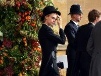 Cara Delevingne wore a top hat and tails to Princess Eugenie's royal wedding