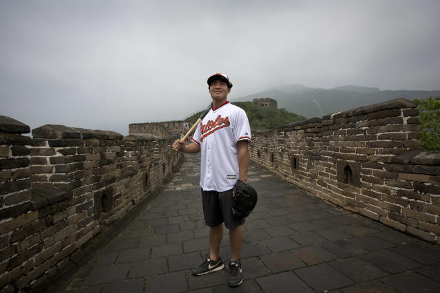 Xu Guiyan was the first Chinese baseball player to sign an MLB contract, but more could be on the way thanks to a new deal by MLB. (AP)