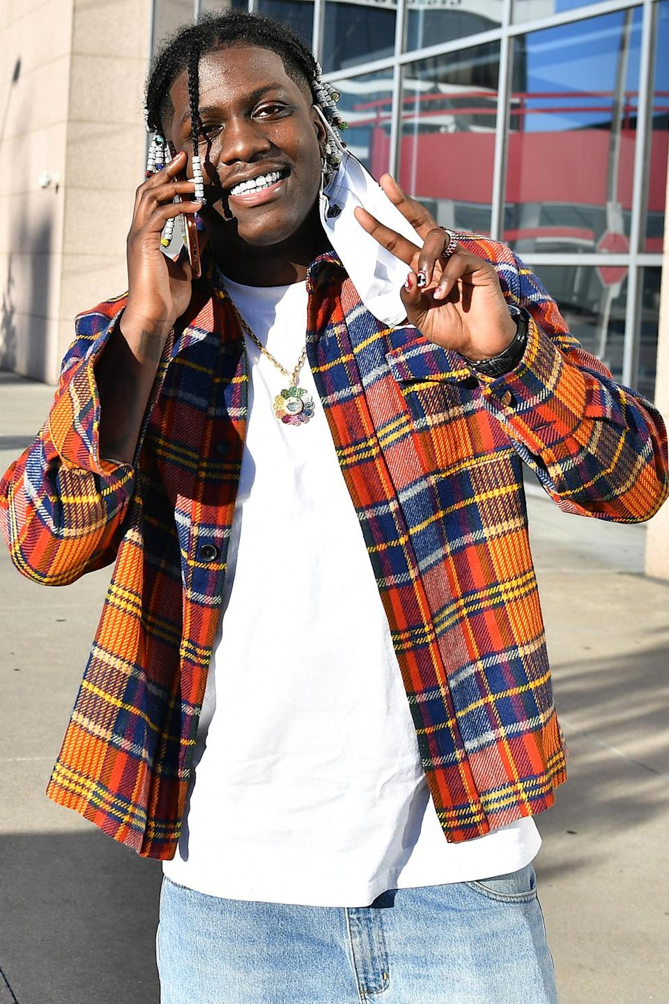 <p>Lil Yachty attended a When We All Vote & More Than A Vote Early Voting event at the Georgia International Plaza in Atlanta.</p>