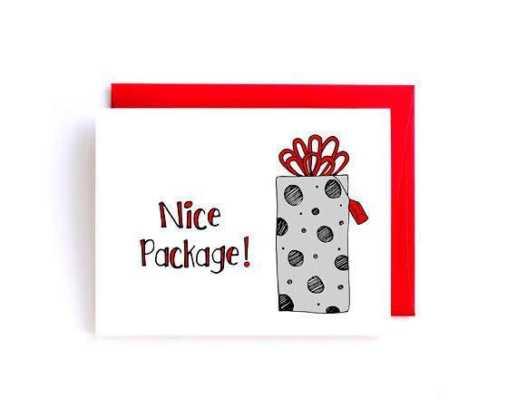 "<i>Buy it from <a href=""https://www.etsy.com/listing/486655765/naughty-christmas-card-sexy-card?ref=shop_home_active_4"" rel=""nofollow noopener"" target=""_blank"" data-ylk=""slk:YellowDaisyPaperCo on Etsy"" class=""link rapid-noclick-resp"">YellowDaisyPaperCo on Etsy</a>&nbsp;for&nbsp;$4.50+.</i>"