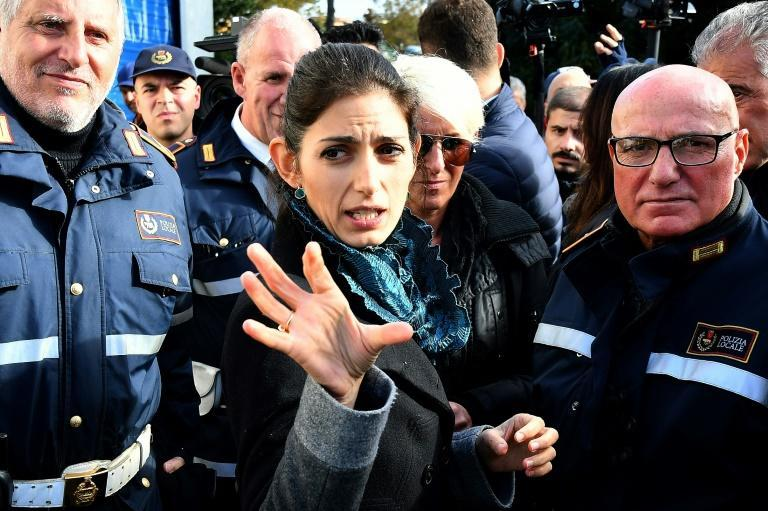 Rome Mayor Virginia Raggi vows not to let up the fight against the Casamonica crime family (AFP/Alberto PIZZOLI)