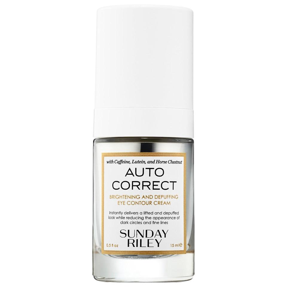 <p>This <span>Sunday Riley Auto Correct Brightening and Depuffing Eye Contour Cream</span> ($65) is one of the only eye creams we've ever used that's potent without overwhelming the skin. It really brightens darkness underneath the eyes, and watermelon rind extract keeps everything hydrated.</p>