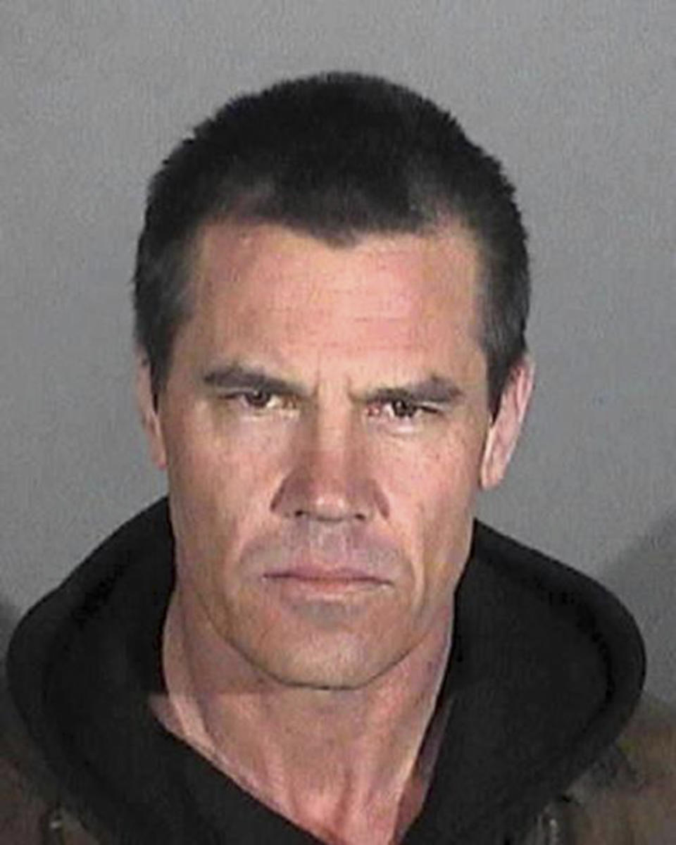 A mug shot of American actor Josh Brolin following his arrest in Santa Monica for public intoxication, USA, January 2013. He was released without charge. (Photo by Kypros/Getty Images)