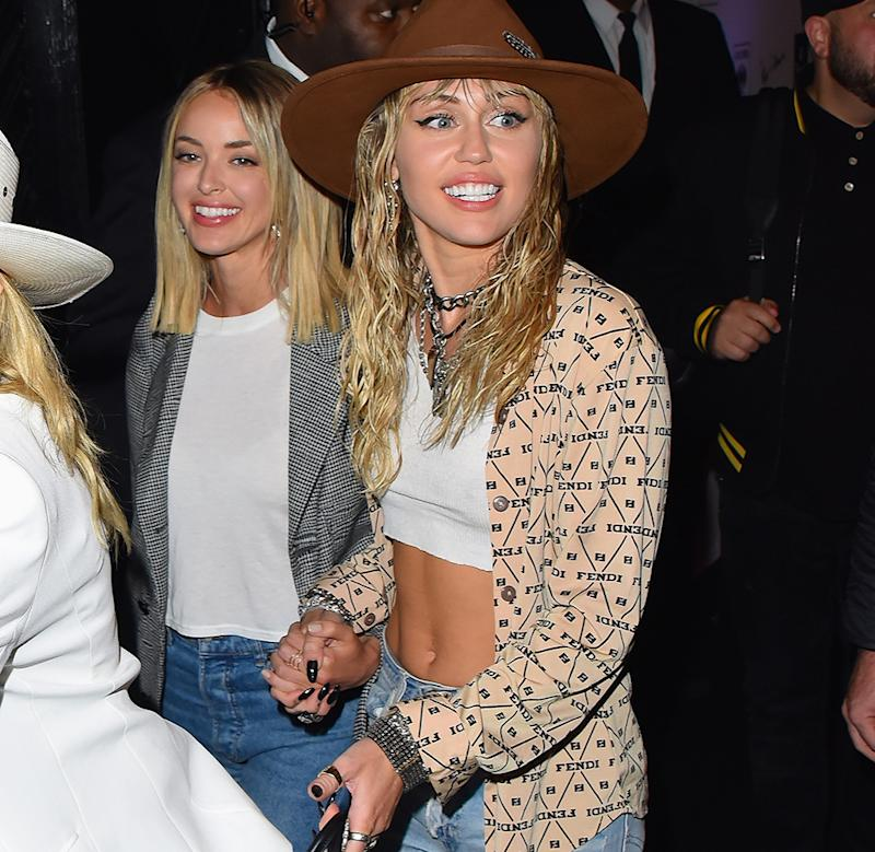 NEW YORK, NY - AUGUST 26: Kaitlynn Carter and Miley Cyrus seen out and about in Manhattan on August 26, 2019 in New York City. (Photo: Robert Kamau/GC Images)