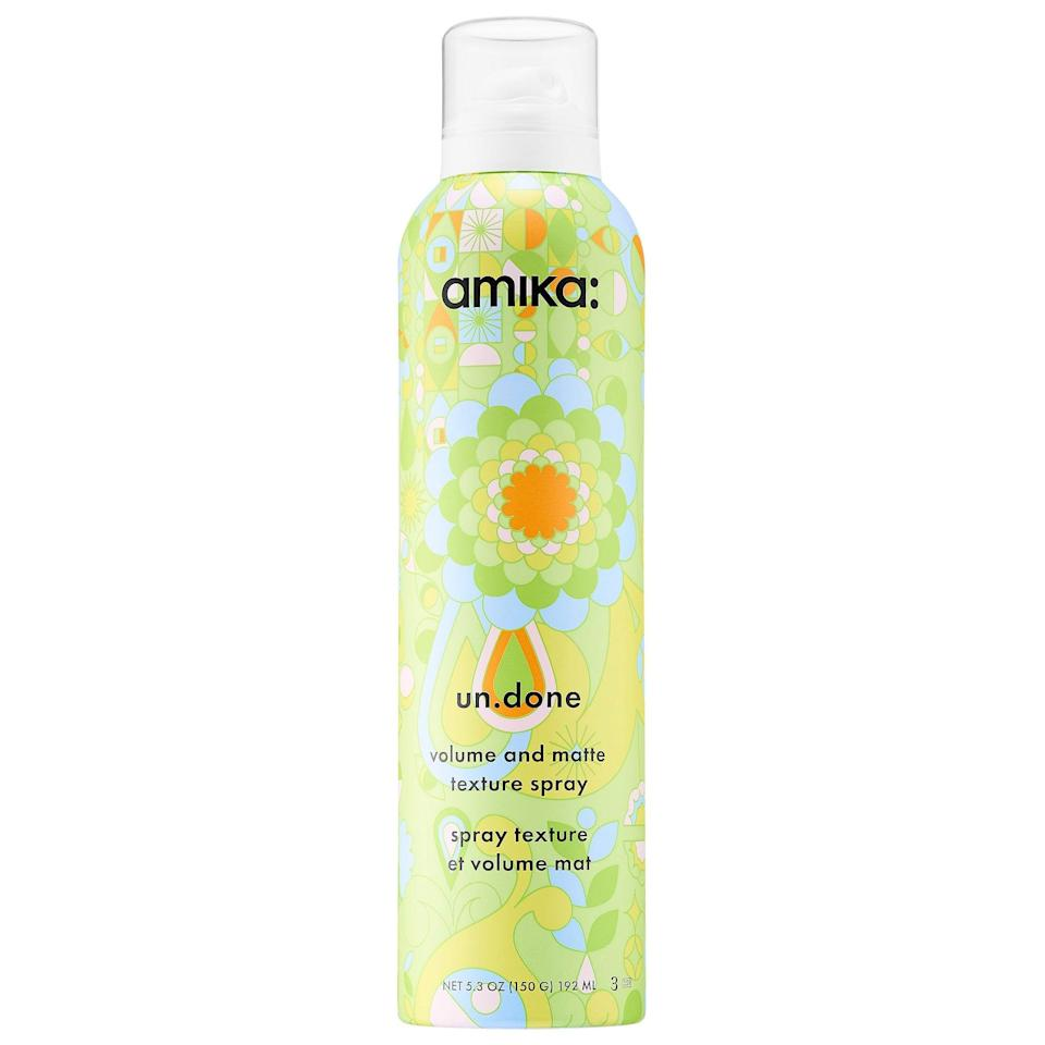<p>This bestselling <span>Amika Un.Done Volume and Matte Texture Spray</span> ($10-$25) creates beachy waves with zero salt. Instead, it uses the mineral zeolite for messy, matte volume.</p>