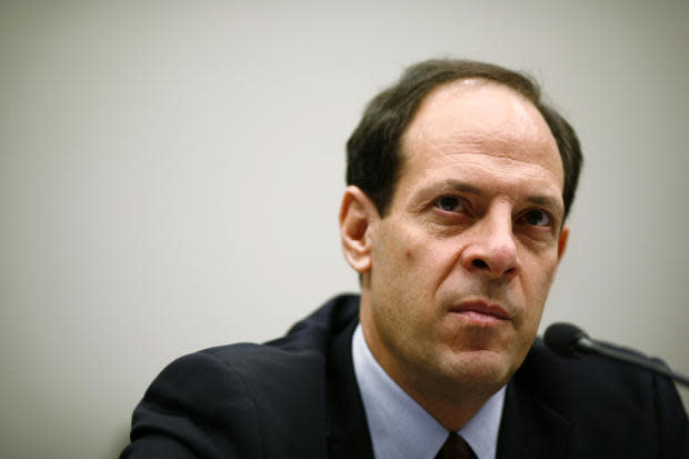 Then-Justice Department Inspector General Glenn Fine testifies before the House Judiciary Committee on October 3, 2008, in Washington.