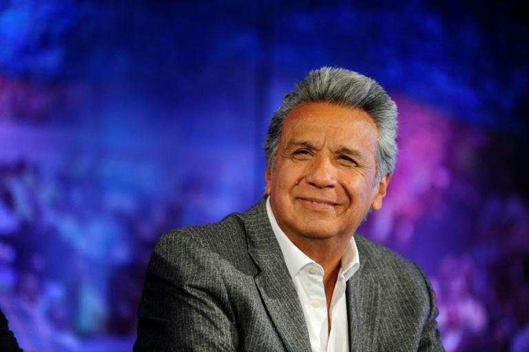 Ecuadorean President-elect Lenin Moreno pictured in Quito on April 4, 2017