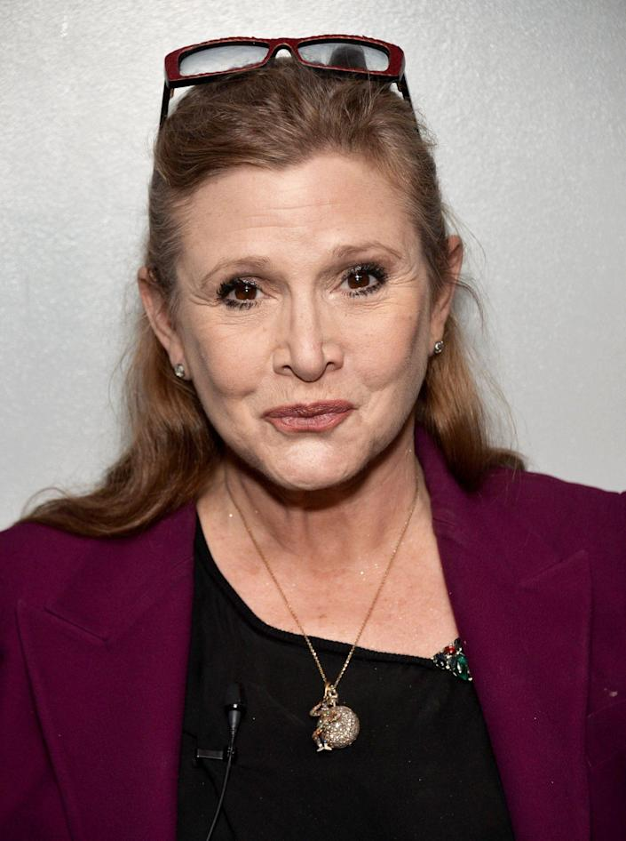 """<p>Beloved actress Fisher received her third Emmy nomination in 2017, nearly <a href=""""https://people.com/movies/carrie-fisher-dies/"""" rel=""""nofollow noopener"""" target=""""_blank"""" data-ylk=""""slk:seven months after her death"""" class=""""link rapid-noclick-resp"""">seven months after her death</a>, for her guest appearence in season 3 of <em>Catastrophe. </em>Fisher recurred on the Amazon comedy as Mia, the mother of Rob Delaney's character. """"I revered Carrie until I met her and then I loved her,"""" Delaney wrote in <em>The Guardian. </em>The award ultimately went to Melissa McCarthy for <em>SNL. </em></p>"""