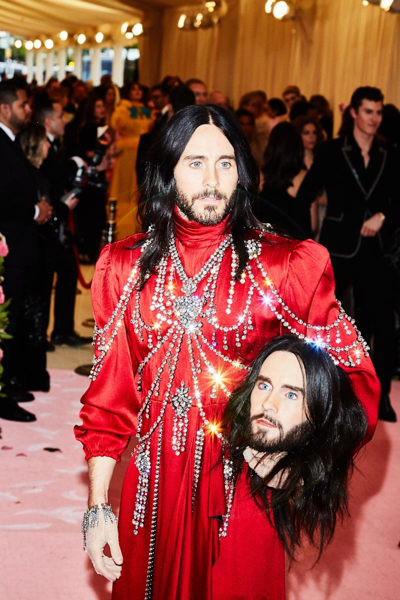Jared Leto on the red carpet at the Met Gala in New York City on Monday, May 6th, 2019. Photograph by Amy Lombard for W Magazine.