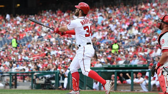 The Washington Nationals beat the Philadelphia Phillies thanks to Bryce Harper on Sunday.