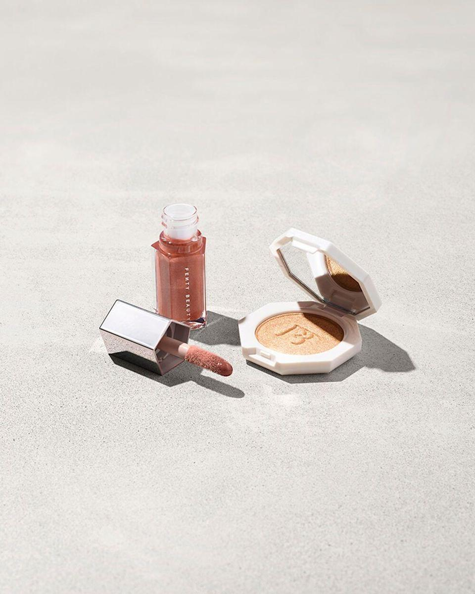 """<p><strong>Fenty Beauty</strong></p><p>fentybeauty.com</p><p><strong>$23.00</strong></p><p><a href=""""https://go.redirectingat.com?id=74968X1596630&url=https%3A%2F%2Fwww.fentybeauty.com%2Fbomb-baby-mini-lip-and-face-set%2F25965.html%3Fcgid%3Dmakeup-travel-size&sref=https%3A%2F%2Fwww.womenshealthmag.com%2Flife%2Fg33503014%2Fsecret-santa-gifts%2F"""" rel=""""nofollow noopener"""" target=""""_blank"""" data-ylk=""""slk:Shop Now"""" class=""""link rapid-noclick-resp"""">Shop Now</a></p><p>This little two-in-one mini set by Fenty Beauty is ideal for stashing in a purse, gym bag or long-weekend duffel. </p>"""