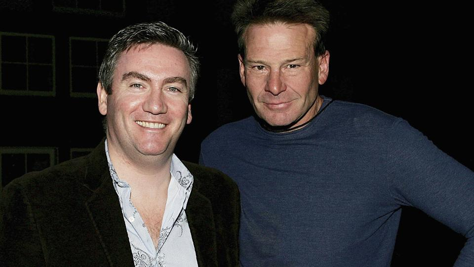 Eddie McGuire and Sam Newman, pictured here in Melbourne in 2006.