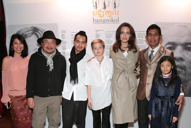 <p>Angelina brought Maddox and Shiloh to the Brooklyn Academy of Music (BAM) to see the multi-disciplinary stage production combining music, film, movement, and voice on Dec. 16. (Photo: Cindy Ord/Getty Images for Brooklyn Academy of Music) </p>