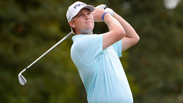 Trey Mullinax/Scott Stallings shot 61 to lead the Zurich Classic but half the field is yet to start after lightning caused a length delay on day one.