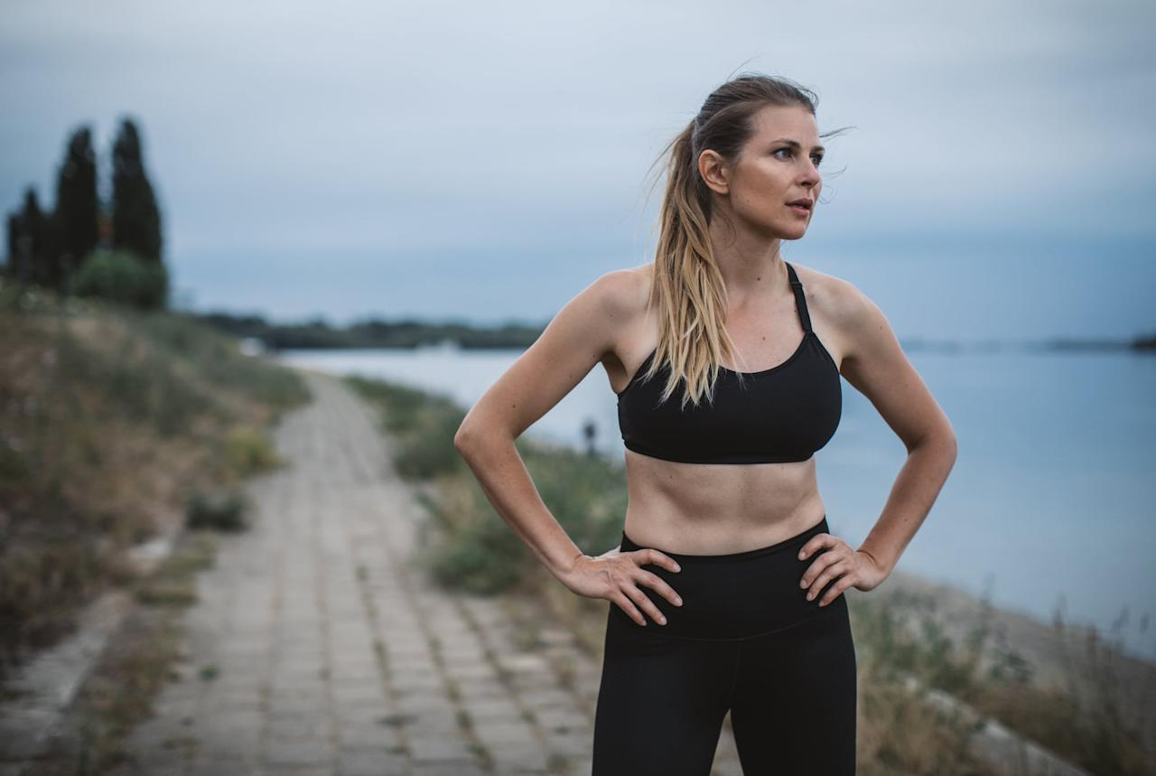"""<p>Repeat after me: taking breaks does <em>not</em> mean you're weak, lazy, or not a good runner. I used to think this, and friends, <a href=""""https://www.popsugar.com/fitness/Bad-Take-Breaks-During-Runs-46286989"""" class=""""ga-track"""" data-ga-category=""""Related"""" data-ga-label=""""https://www.popsugar.com/fitness/Bad-Take-Breaks-During-Runs-46286989"""" data-ga-action=""""In-Line Links"""">I was wrong</a>. If you need the break, take the break. Stretch out. Catch your breath. Walk for a minute. Keep it short and sweet, because long breaks can cause your muscles to tighten up and get cold, but don't force yourself to keep going if you know taking a breather will help you out.</p>"""